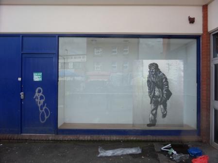 Walking. Street Art. 20015. Marker pen on polythene